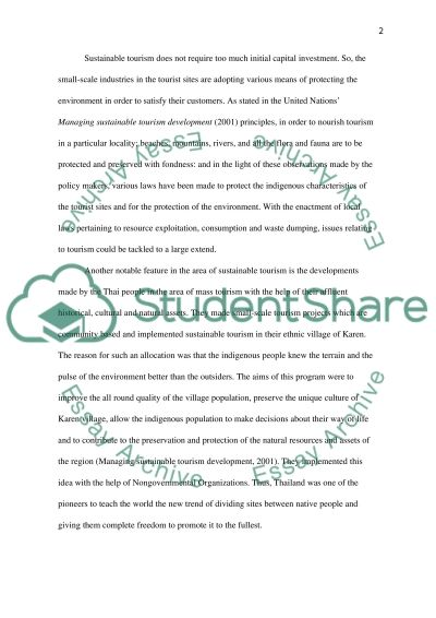 Trends in Sustainable Travel and Tourism essay example