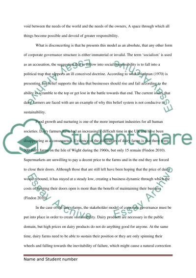 social responsibility of business Essay example
