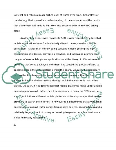 inofrmation technology applications in marketing Essay example