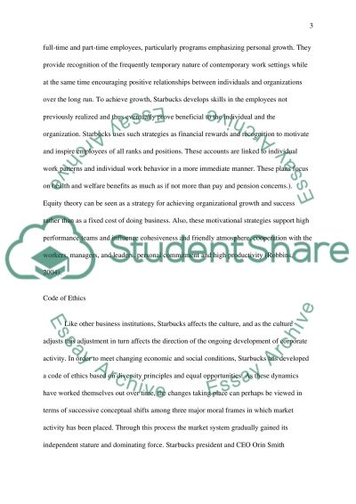 Motivational Strategies in Starbucks essay example