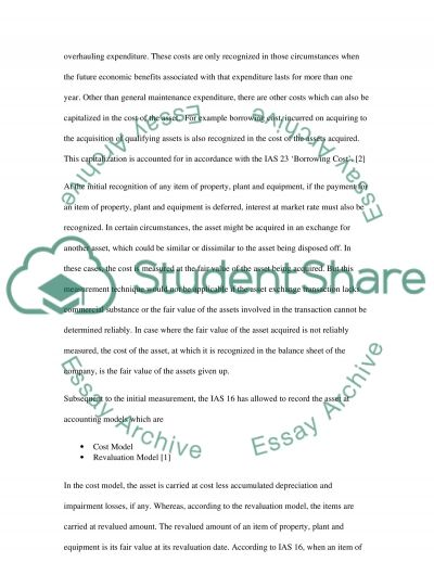 Fixed Tangible essay example