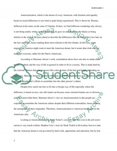 Americanization Examples Image Collections Example Cover Letter