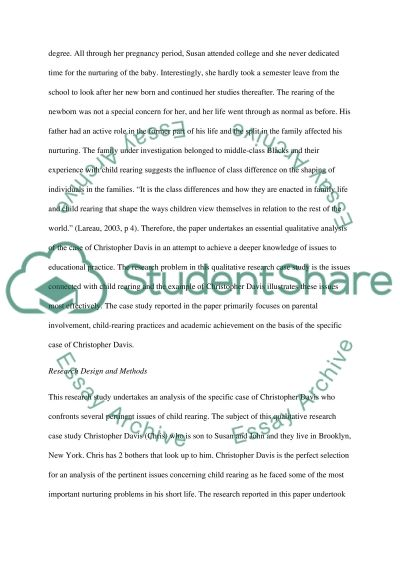 Child Rearing in America essay example