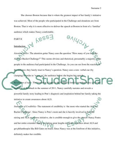 Speech analyses essay