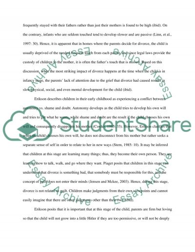 Consequences of Divorce for Children essay example