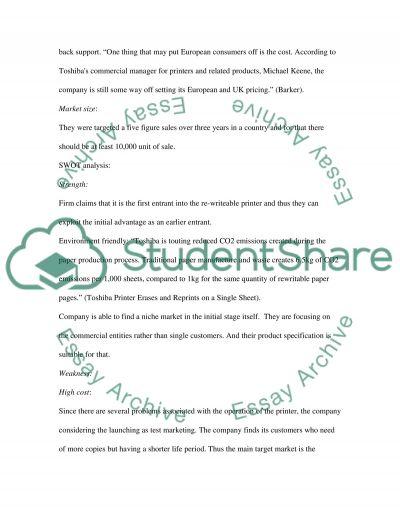 Toshiba BSX8R Rewritable Printer essay example