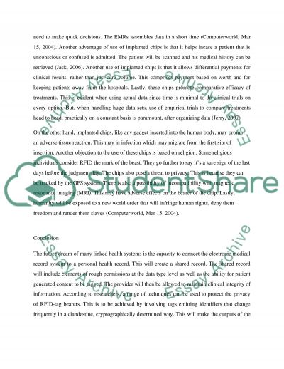 The use Health Care Technology essay example
