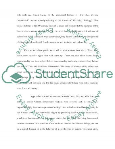 Reflective Essay on History (Gender Studies) essay example