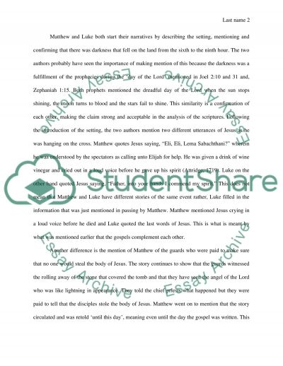 Telling the Christ essay example