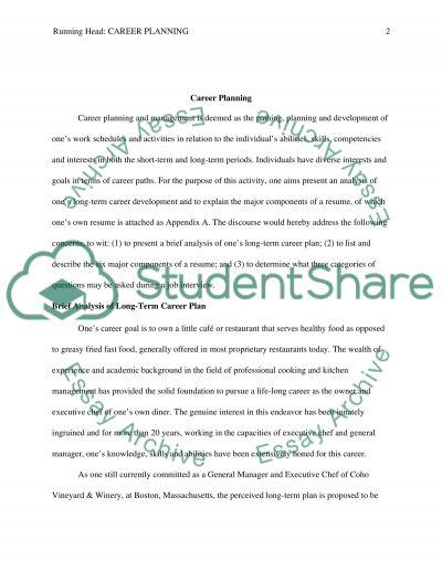 Career Planning essay example