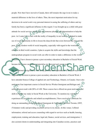Personal Letter To University essay example