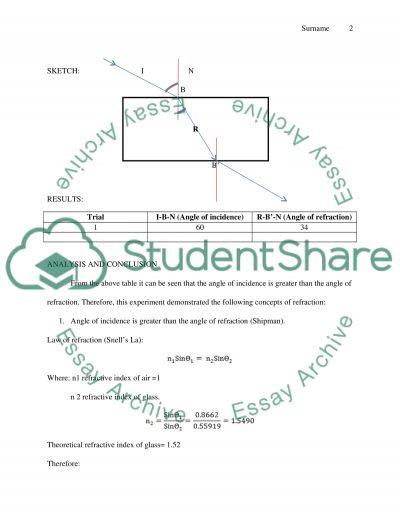 Labs H, P, & S essay example