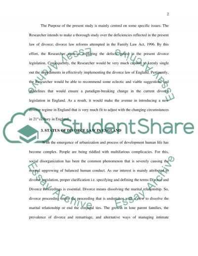 Family Law - Final Proposal essay example