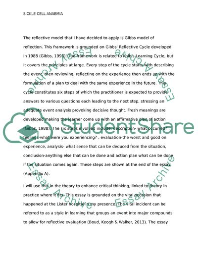 A Reflective Writing On Case Study  Managing A Sickle Cell Anemia  A Reflective Writing On Case Study  Managing A Sickle Cell Anemia For  Assessment  Proposal Essay Ideas also Short English Essays  How To Write A Good Proposal Essay