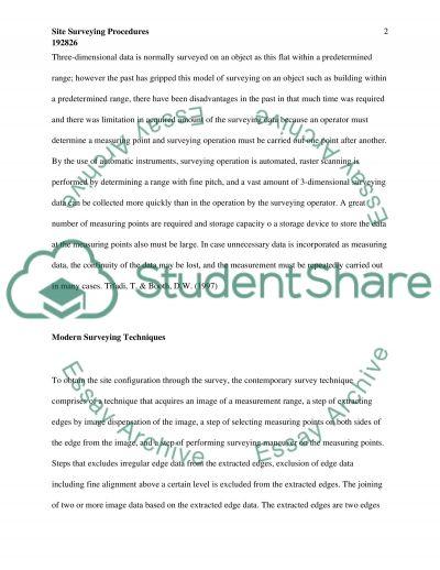 Engeneering Surveying essay example
