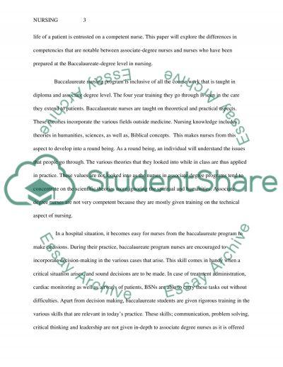Nursing Paper Essay essay example
