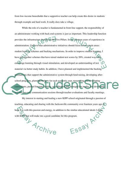 Application to the KIPP School Leadership Program