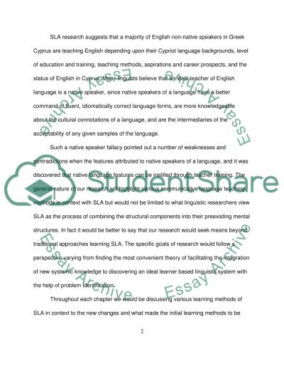 Second Language Acquisition Case Study essay example