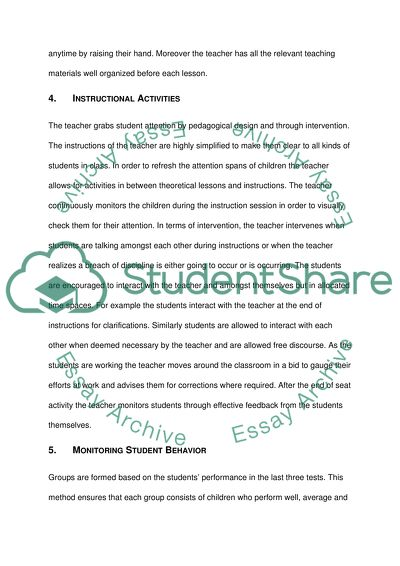 Education - Field Placement Essay Example | Topics and Well Written ...