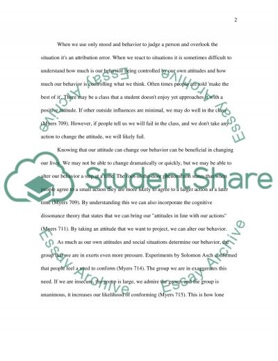 The Influence of Social Thinking Essay example