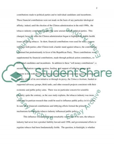 The Tobacco Industry essay example
