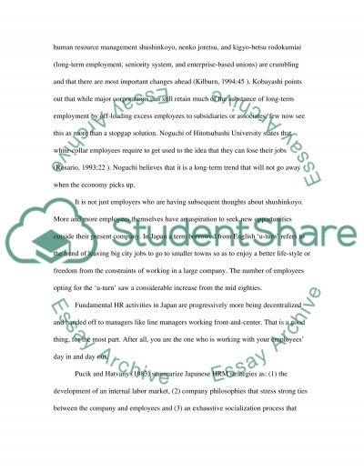 Human Resource Management Master Essay essay example