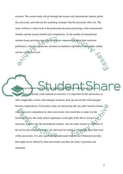 University of Chichester essay example
