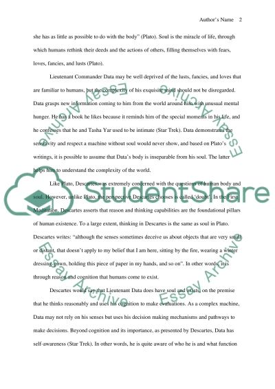 Philosophy Essay on Soul essay example