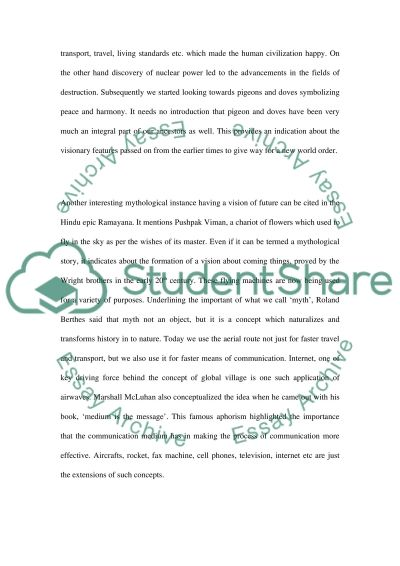 Messenger of The Global Village essay example