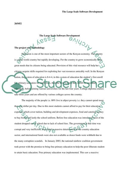 Large Scale Software Development Essay