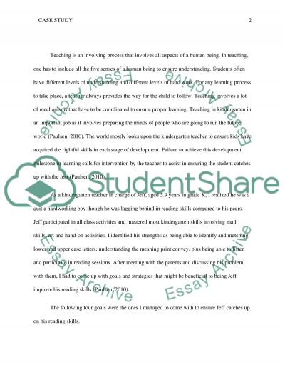 Case Study - Reading essay example
