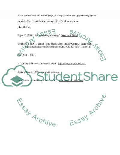 Social software essay example