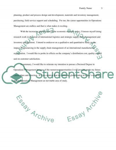 doctoral essay admission