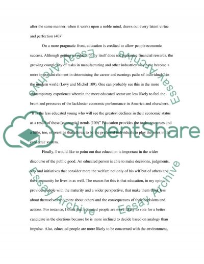 Importance of education essay example