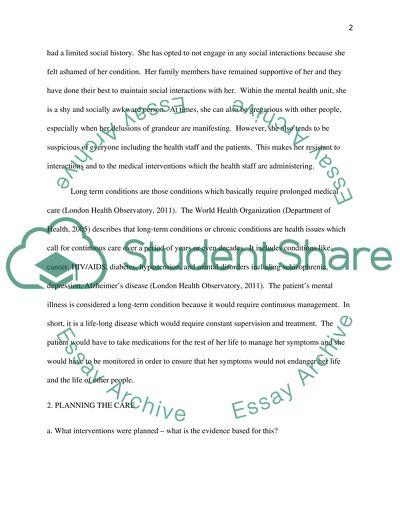 Nursing admission essays long term conditions