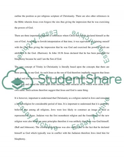 Jesus as God Essay example