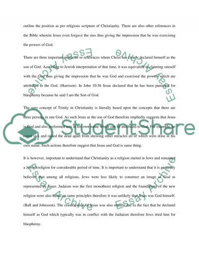 Jesus as God essay example