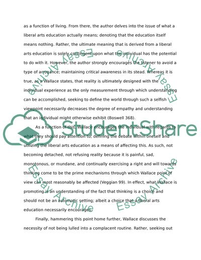 How To Write A High School Essay  College Vs High School Essay also Examples Of English Essays David Foster Wallace Is On Youtube Giving The Commencement  How To Write An Essay Thesis
