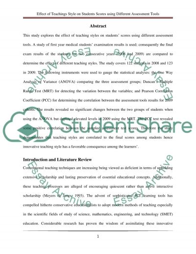 essay on different teaching styles Essay on learning styles i tend to thrive on this type of approach to teaching and are you in search of free sample essays and essay examples on different.
