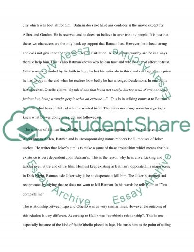 thesis statement othello Othello study guide contains a biography of william shakespeare, literature essays, a complete e-text, quiz questions, major themes, characters, and a full summary.