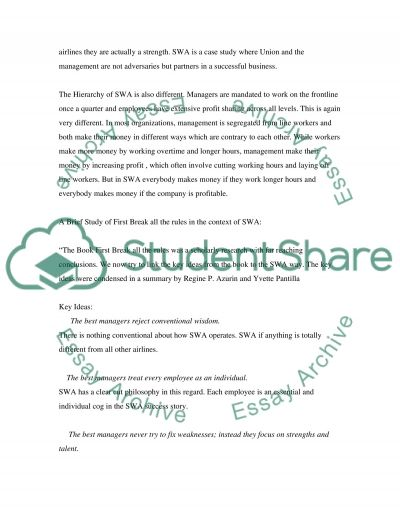 Southwest Airlines essay example