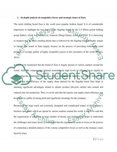 Strategic issues of Zara essay example