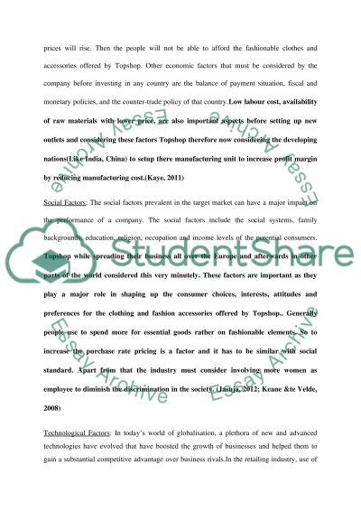 top shop analysis essay