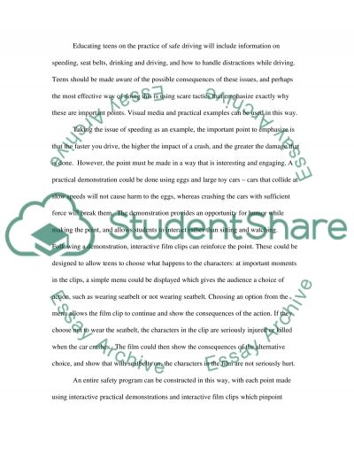 Improving Driver Safety essay example