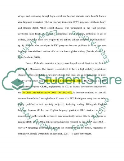 How to implement dual language programs in already established elementary schools essay example