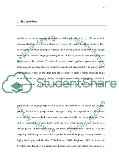 Research perspectives essay example