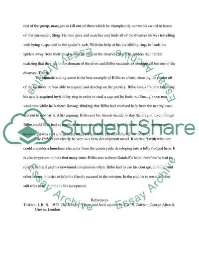 The Heroism Of Bilbo Baggins Essay Example  Topics And Well Written  The Heroism Of Bilbo Baggins