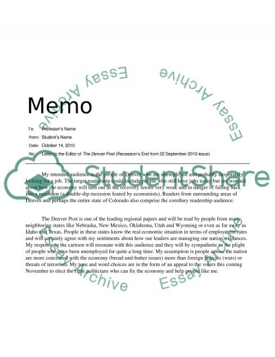 Letter to editor essay example