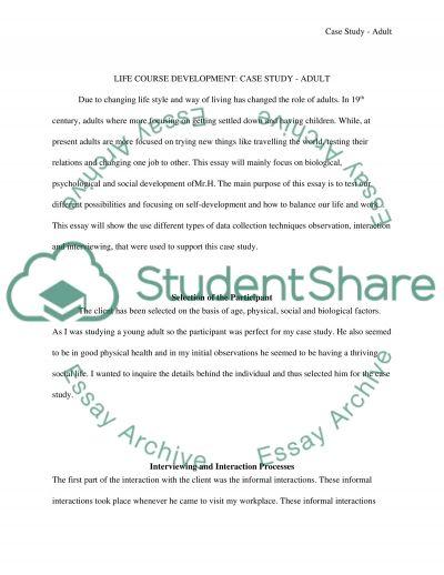 Life Course Development essay example