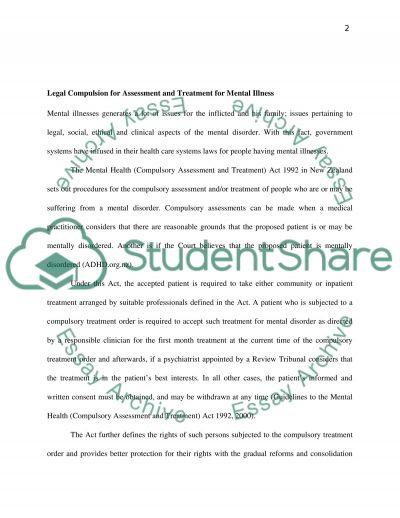 Behaviour and Mental Illness essay example